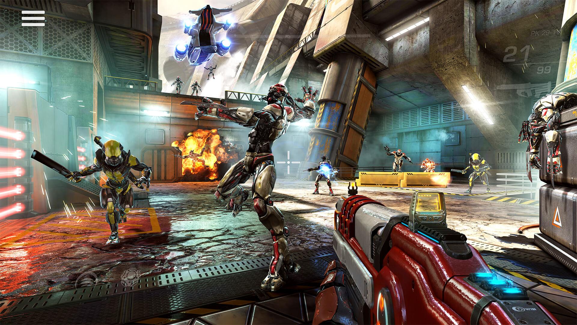 نتيجة بحث الصور عن Shadowgun Legends apk